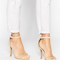 London Rebel Chain Barely There Heeled Sandals