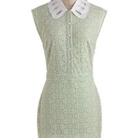 Avocado Crema Dress | Mod Retro Vintage Dresses | ModCloth.com