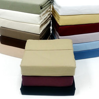 300TC Solid Egyptian Cotton Luxury Bed Sheet Sets