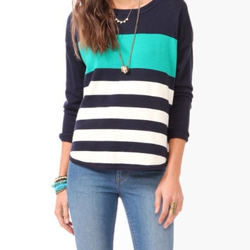 Relaxed Colorblocked Sweater