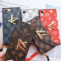 LV Louis Vuitton Stylish Chic iPhone Phone Cover Case For iphone 6 6s 6plus 6s-plus 7 7plus iPhone X XR XS XS MAX