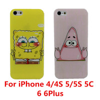 Best Friend SpongeBob Patrick Protective Phone Case Cover For Apple iPhone 4 4S 5 5S 5C 6 6 Plus Free Shipping