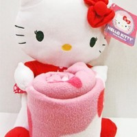 Hello Kitty Hearts and Stars: Fun Throw and Pillow Set