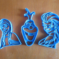 Set of 3 Frozen Cookie Cutters