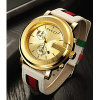 Gucci watches with Louis vuitton bracelets and Cartier rings, men's and women's fashion watches F-PS-XSDZBSH  Gold