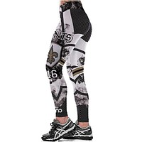 New Orleans Saints NFL Team Digital Print High Waist Leggings