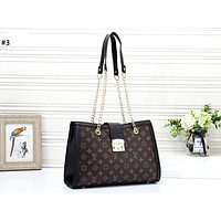 LV 2019 new large-capacity tote bag handbag chain bag diagonal package #3