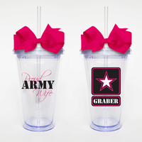 Proud Army Wife - Acrylic Tumbler Personalized Cup