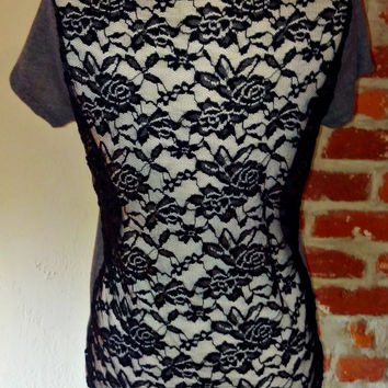 Laced & Dangerous Top - Grey