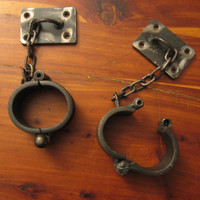 Wall Mounted Hand Cuffs Handcuffs Bondage BDSM Bonds of Steel Master Slave Play SM
