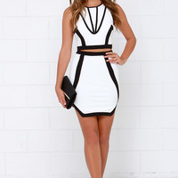 Intergalactic Black and Ivory Two-Piece Dress
