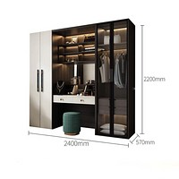 Fitted Sliding Wardrobes With Classic Luxury Table