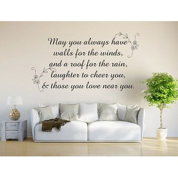 Irish Blessing - Inspirational Wall Signs