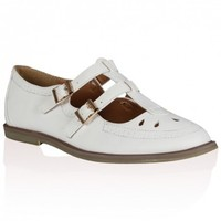 Mimi White PU Geek Shoes 8.5