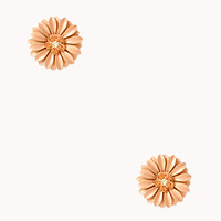 FOREVER 21 Garden Chic Floral Studs Peach One