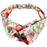 GUCCI Classic Retro Women Sport Blooms Print Silk Headband Headwrap Hair Band