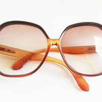 Burnt Orange Oversized Vintage Glasses by EridaneasBoutique