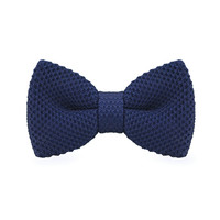 Men's Fashion Dark Blue knitting Adjustable Wool For Wedding Party Business
