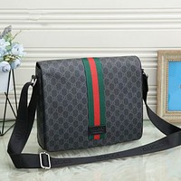 GUCCI Men's Fashion Leather Tote Bag Handbag Shoulder Bag Handbag