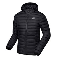 Nike Women Men Fashion Hooded Cardigan Jacket Coat Windbreaker