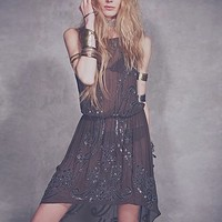 Haute Hippie Womens Spin Me Right Round Sequin Dress