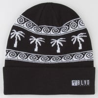 Blvd Wave Beanie Black Combo One Size For Men 22190214901
