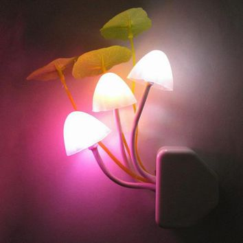 LED Mushroom Cluster Night Light