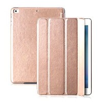 iPad Air Case (2013), iVAPO [Retro Luxury] iPad Air (iPad 5) Smart Cover PU Leather Case, Flexible Stand Function Slim Folio Flip Case Cover For iPad Air With Auto Wake/Sleep Function (MM446) (Champagne)
