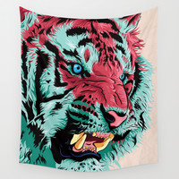 Tiger Wall Tapestry by Roland Banrevi