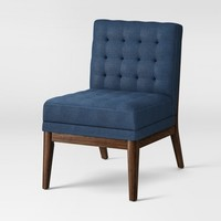 Newark Tufted Slipper Chair with Wood Base - Project 62™