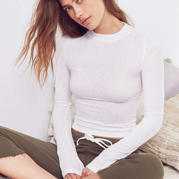 Out From Under Billie Shrunken Long Sleeve Top   Urban Outfitters