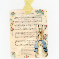 Peter Rabbit Baby Gift Tags , Baby Shower Tags , Baby Shower Favors , Beatrix Potter , Cradle Song Tags , Nursery Tags