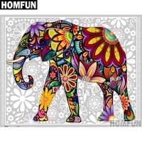 5D Diamond Painting Abstract Elephant Kit