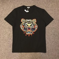 hcxx 1049 kenzo Tiger beard embroidered short sleeves T-Shirt