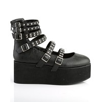 Demonia Strappy & Studded Mary Jane Rave Shoes
