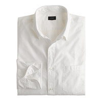 J.Crew Mens Tall Secret Wash Point-Collar Shirt In White