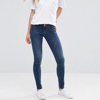 Noisy May | Noisy May Eve Low Waist Skinny Jeans with Zip Detail at ASOS