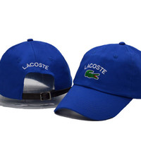 Blue LACOSTE Embroidered Unisex Baseball Golf Cap