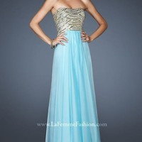 Strapless Gown by La Femme