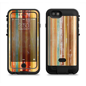 The Smudged Yellow Painted Stripes Pattern  iPhone 6/6s Plus LifeProof Fre POWER Case Skin Kit