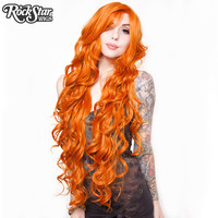 "Cosplay Wigs USA™  Curly 90cm/36"" - Orange -00330"