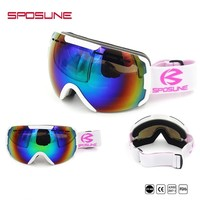 Ski Goggles With Lens Men And Women Snow Glasses Double Anti-fog Windproof Ski Goggles Ski Accessories Winter Glasses For Skiers
