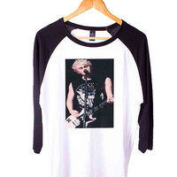 Michael Clifford 5 Seconds Of Summer Short Sleeve Raglan - White Red - White Blue - White Black XS, S, M, L, XL, AND 2XL*AD*