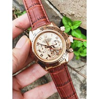 Rolex Fashion New Casual Business Sport Movement Women Men Watch Wristwatch