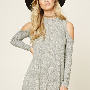 High-quality Womens Strapless Long Sleeve Knit Dress Sweater + Free Black Boho Choker Gift