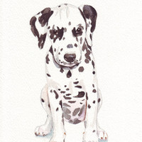 Dalmatian Puppy Painting print of watercolor by Splodgepodge