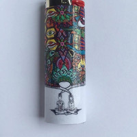 Two minds combined custom BIC lighter