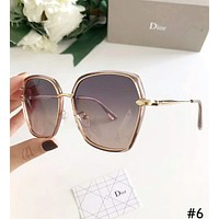 Dior 2019 new female models driving large frame polarized sunglasses #6