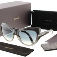 Tom Ford Womens FT0284 Grey/Grey Sunglasses 59mm
