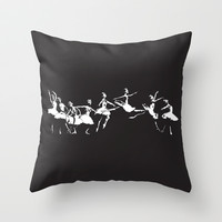 Dance Throw Pillow by MORPHEUS   Society6